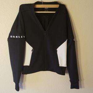Oakley black and white stylish bomber jacket